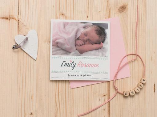 Geboortekaartje Emily