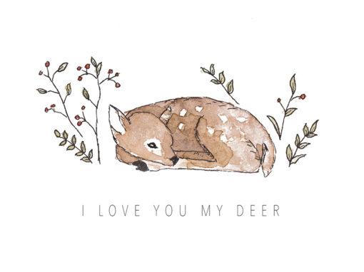 Kaart I love you my deer