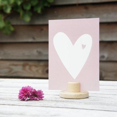 Hart roze ansichtkaart