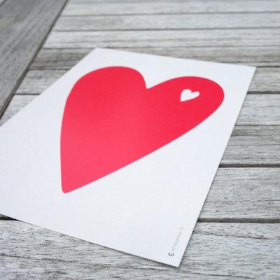 Poster hart roze